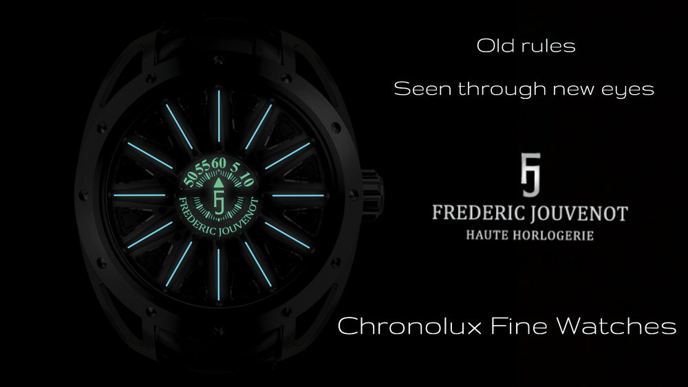 Frederic Jouvenot watches - Independent Watchmaking at Chronolux Fine Watches