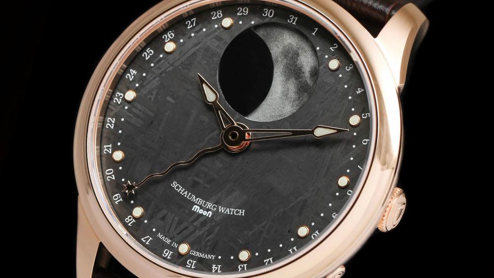 Schaumburg Watch Perpetual MooN Meteor 18Kt Rose Gold