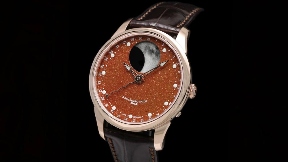 Schaumburg Watch Perpetual MooN Galaxy 18Kt Rose Gold