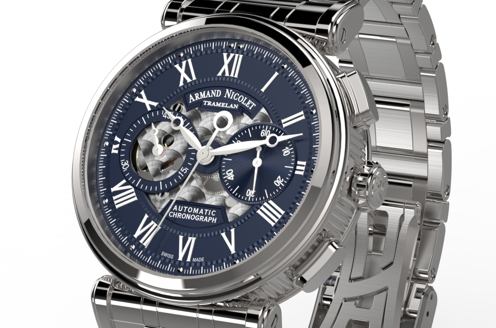 Armand Nicolet Arc Royal Chronograph A424AAA-BU-MA2420