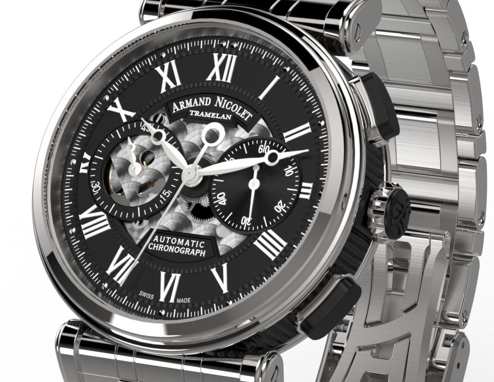 Armand Nicolet Arc Royal Chronograph A424ANA-NR-MA2420