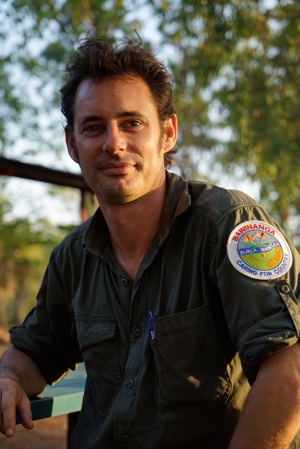 Head of the Djelk Rangers, Dominic Nicholls (photo by Guy Fitzhardinge).