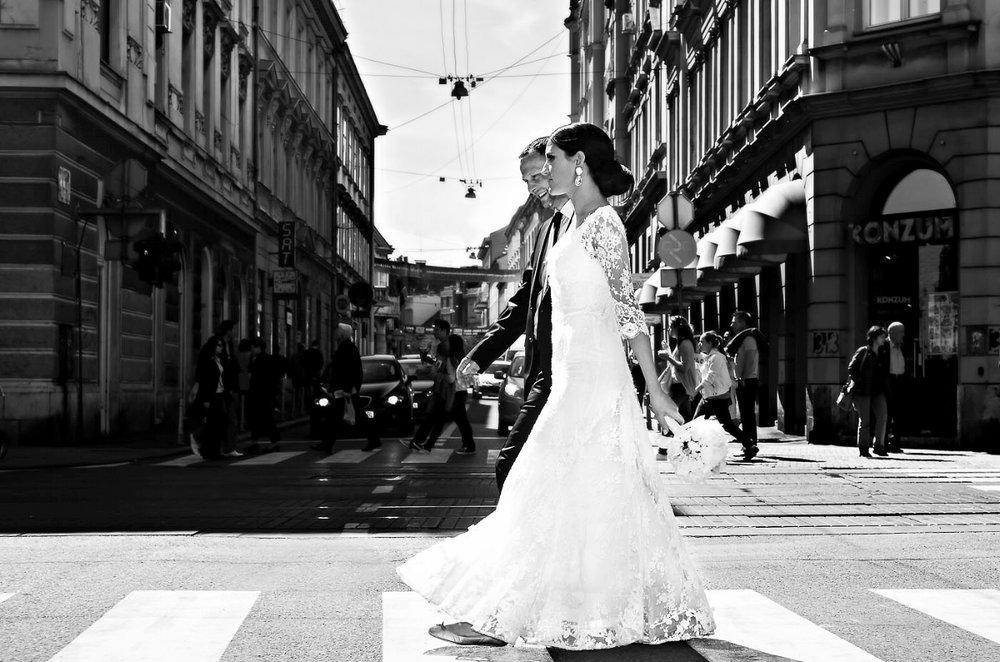 Fotografija vjenčanja Zagreb centar Zrinjevac