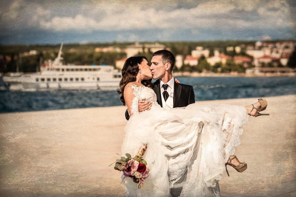 fotografija vjenčanja Lucia i Tomislav, lokacija Zadarska riva