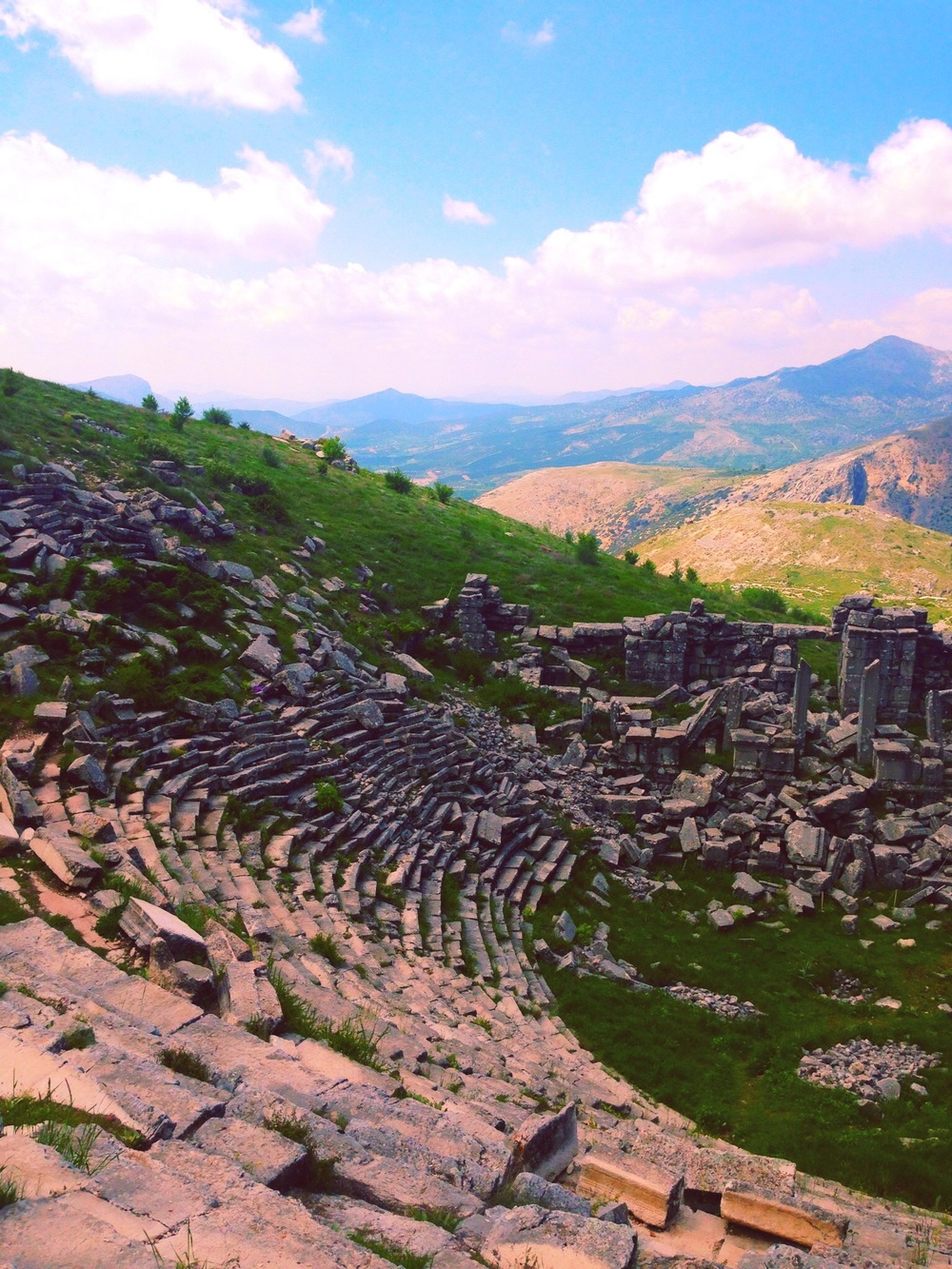 Amphitheatre in the ancient city Termessos, in the western Taurus Mountains.