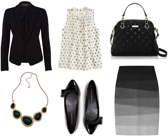 minneapolis_fashion_blog_blogger_riverisland_black_jersey_blazer_jcrew_blouse_kate_spade_handbag_max_and_chloe_necklace_city_lulus_flat_bow_patent_herve_leger_ombre_skirt1.png