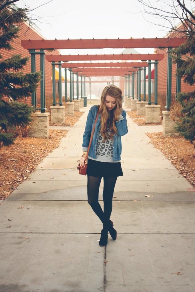 minneapolis_fashion_blog_lineanddot_samedelman_petty_ankleboots_denimshirt_leopard_sweater_gap_francescas2.jpg
