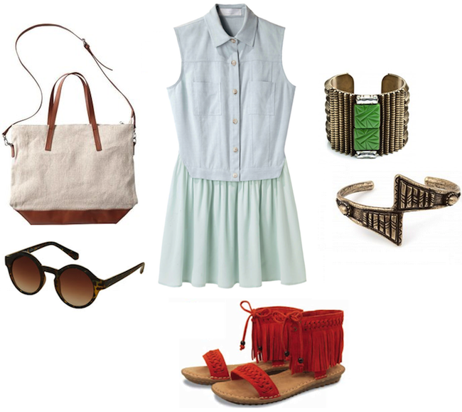Thakoon_denim_dress_minnetonka_moccasin_marquette_tie_poppy_sandals_vanessa_mooney_dannijo+_topshop_old_navy1.png