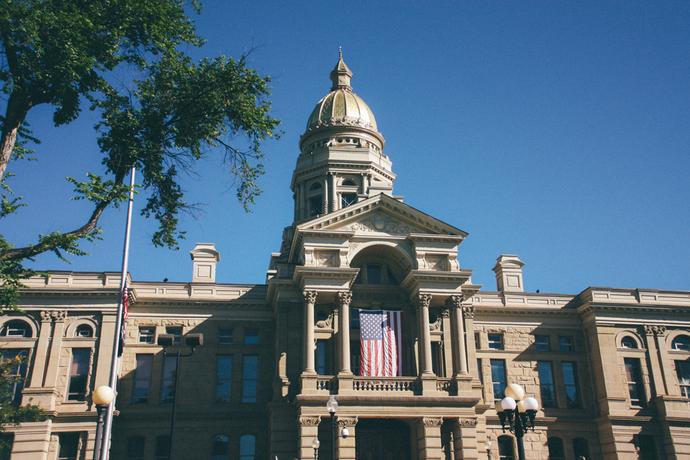 Wyoming State Capitol during Cheyenne Frontier Days, via truelane.png