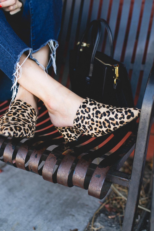 Leopard-Print Mules | truelane