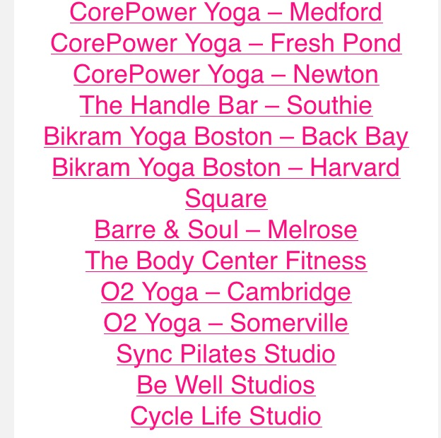 Not known Facts About Classpass Boston