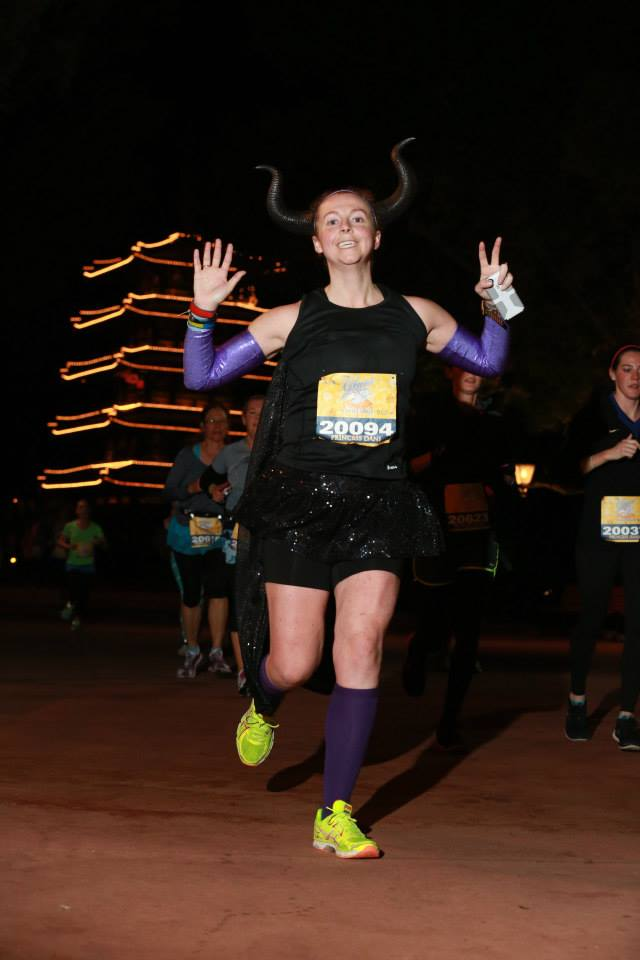 Arm sleeves & skirt during Run Disney Enchanted 10k