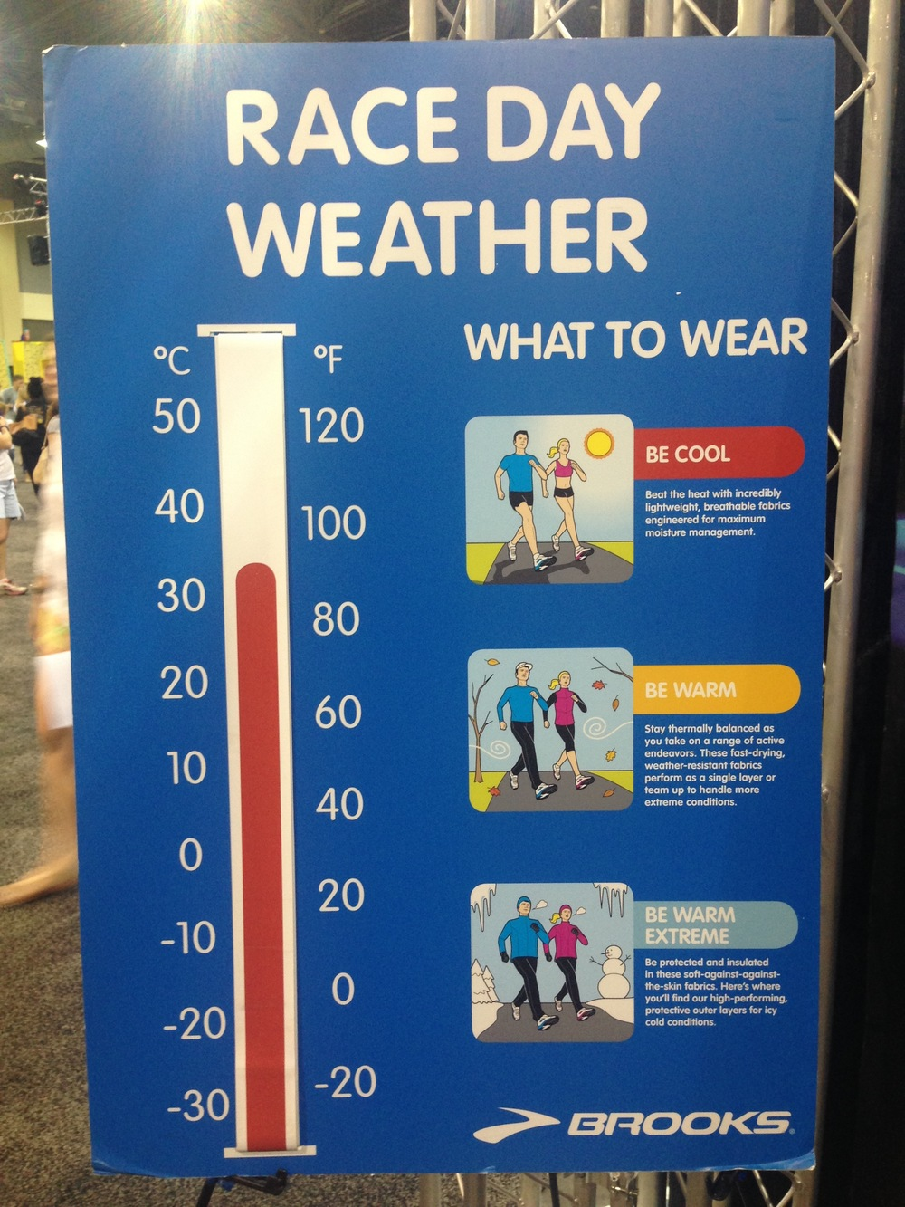 Weather warning at the expo!