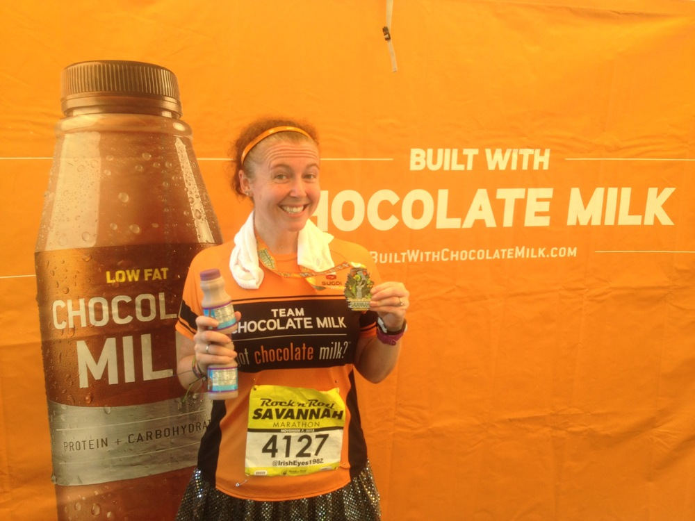 Thanks again chocolate milk for the entry into the race