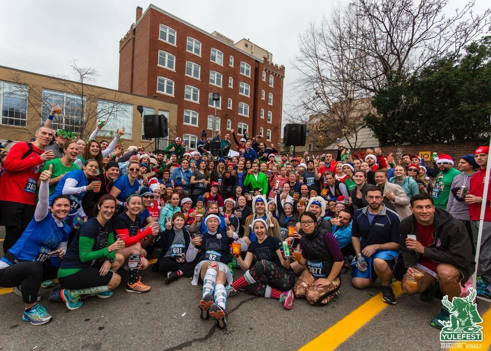 Here is the crew from the 2015 Yulefest post-race party!