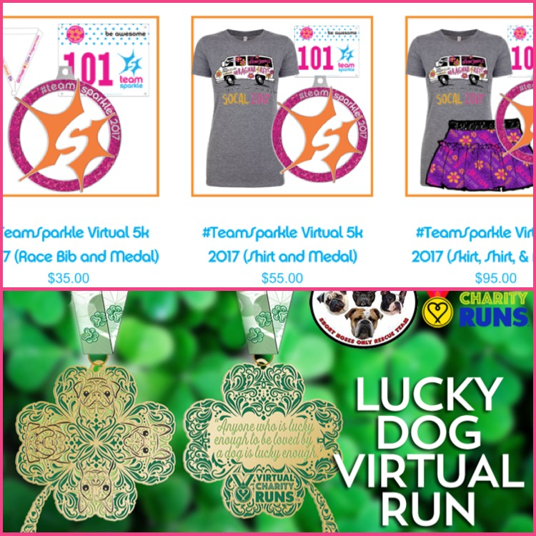 2 Must Do Charity Virtual Races TeamSparkle 5k Lucky Dog Run Weight Off My Shoulders