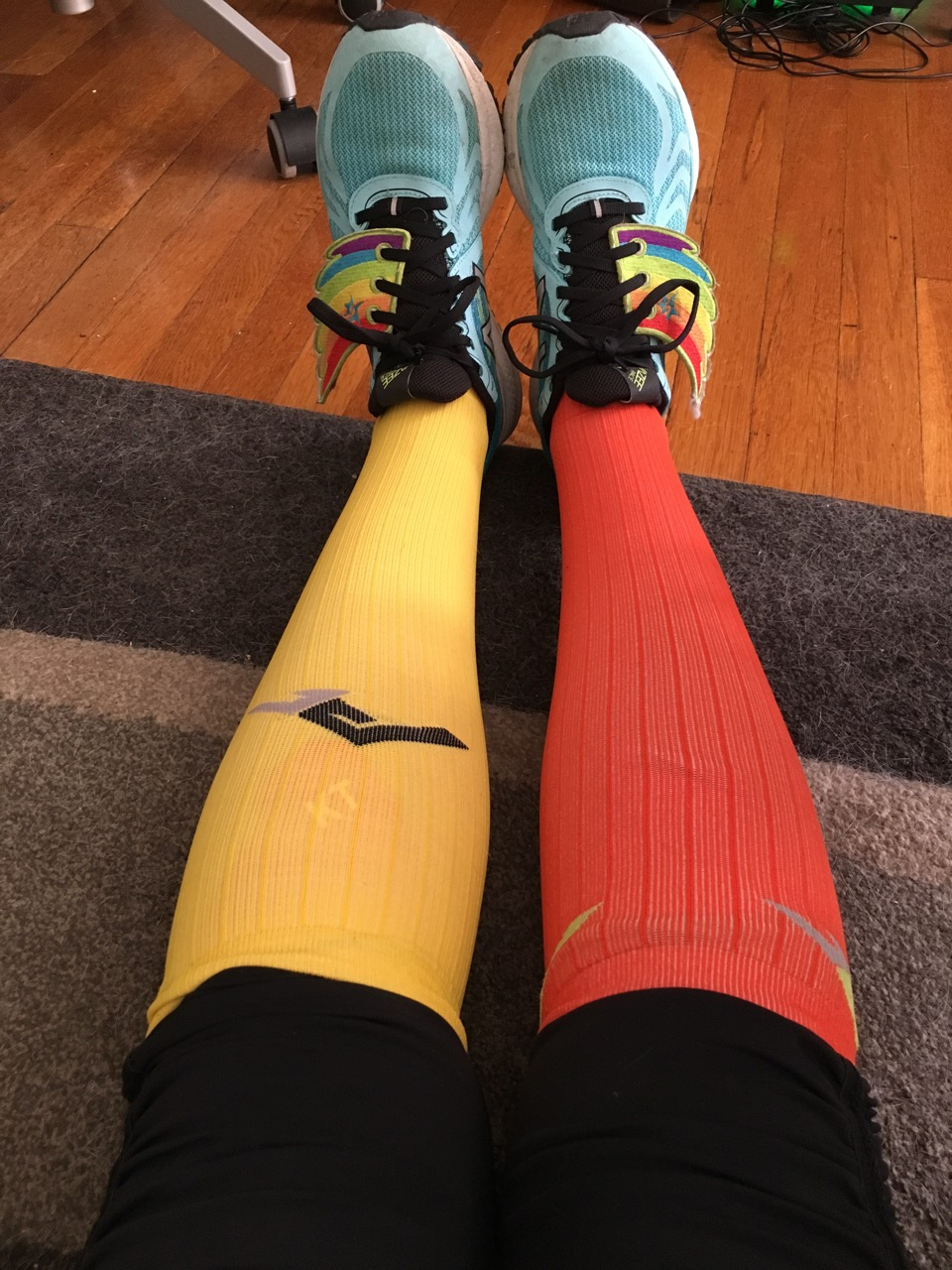 Of course I had to #TwoPairDontCare with retro PRO Compression socks