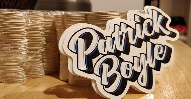 Stickers! And more importantly, a lengthy discussion about why I would even make stickers of my own name.  Inquiring minds want to know.  Link to the post in my bio, or just hop over to Patrick-Boyle.com