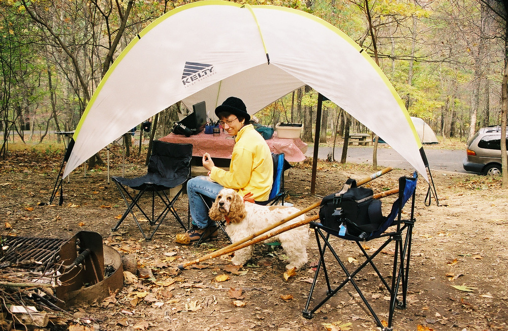 Camping at Peaks of Otter on the Blue Ridge Parkway, quite a few years ago.