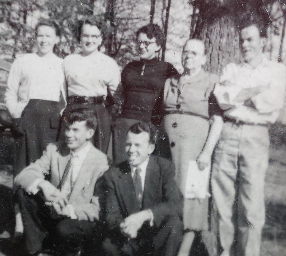 Hazel and her Family, Agnes, Hessie, Hazel, Mom (my Grandmother), Jonah, Clay (my Dad), Johnny