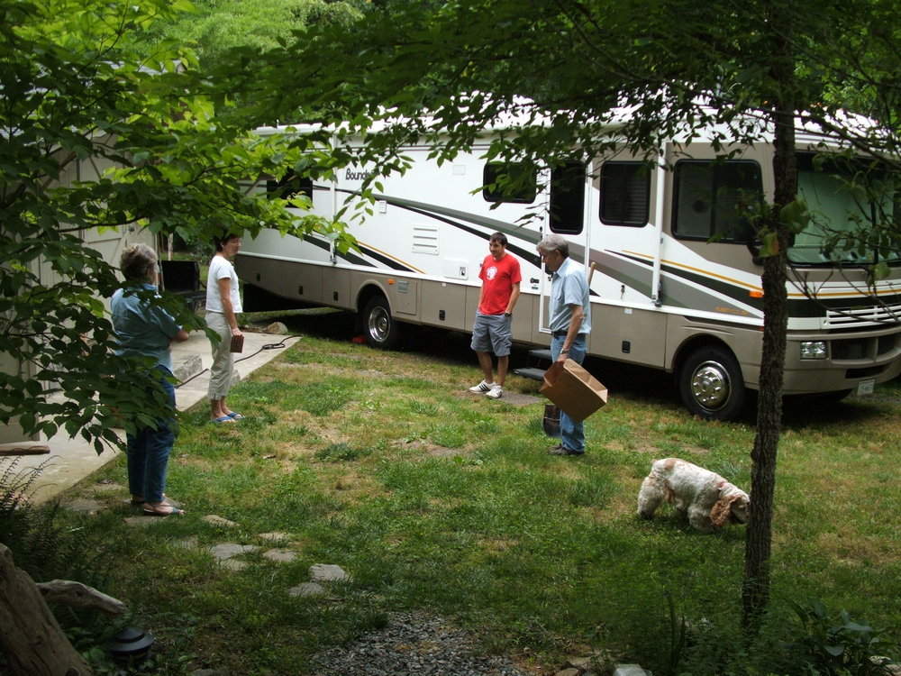 My Dad's backyard with our first coach, taken in May 2005