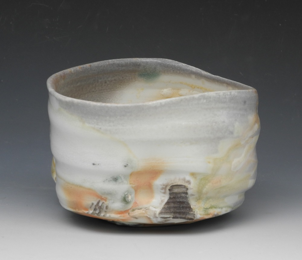 Natural ash porcelain Chawan