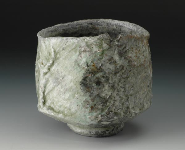 Natural ash chawan, hiki-dashi