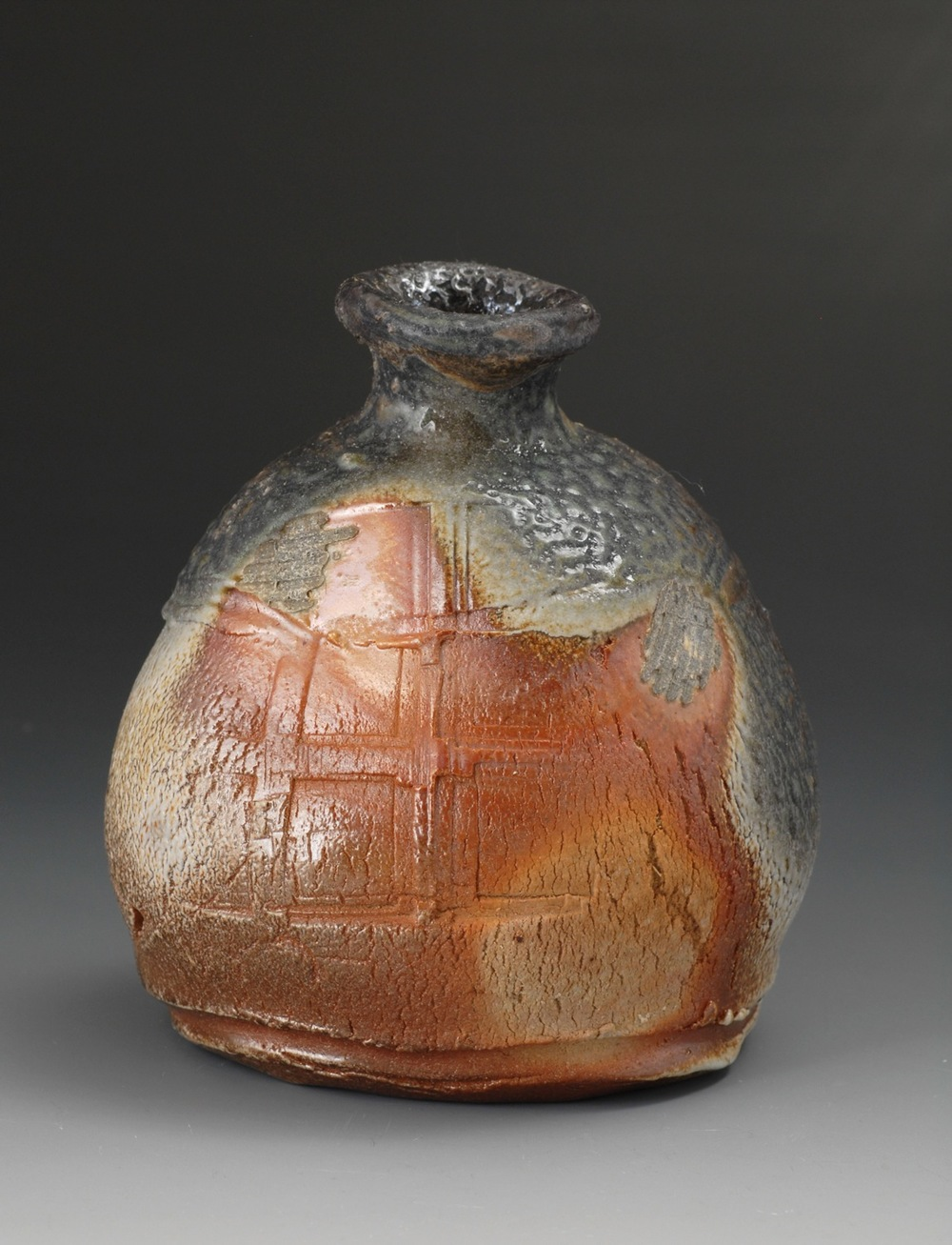 Natural ash tokkuri (Sake bottle)