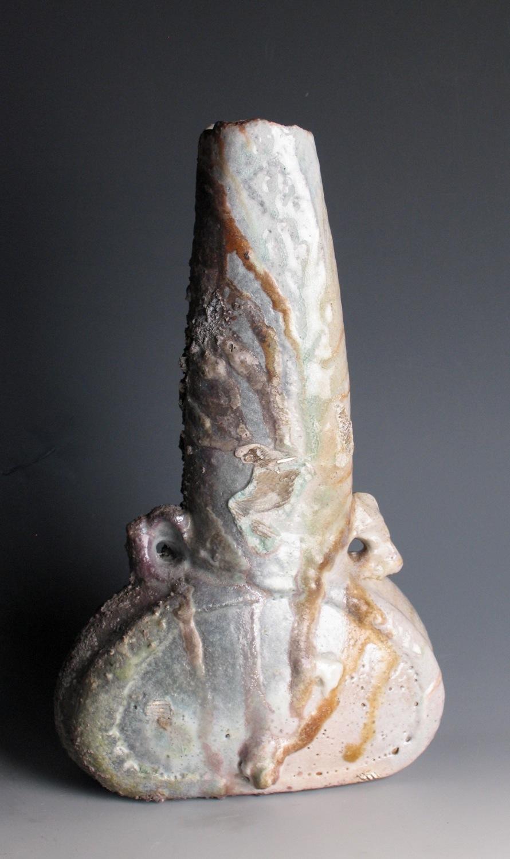 Yohen vase, shino glaze. H: 40cm
