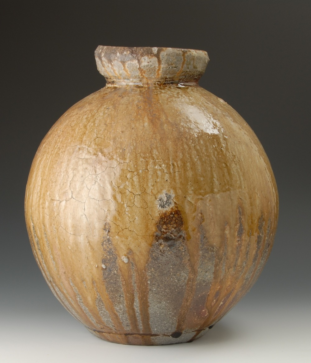 Natural ash jar. H:60cm