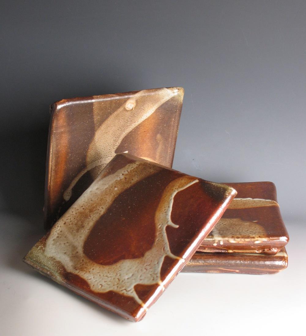 Sushi platters, shino glaze