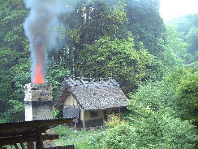 Chimney and teahouse