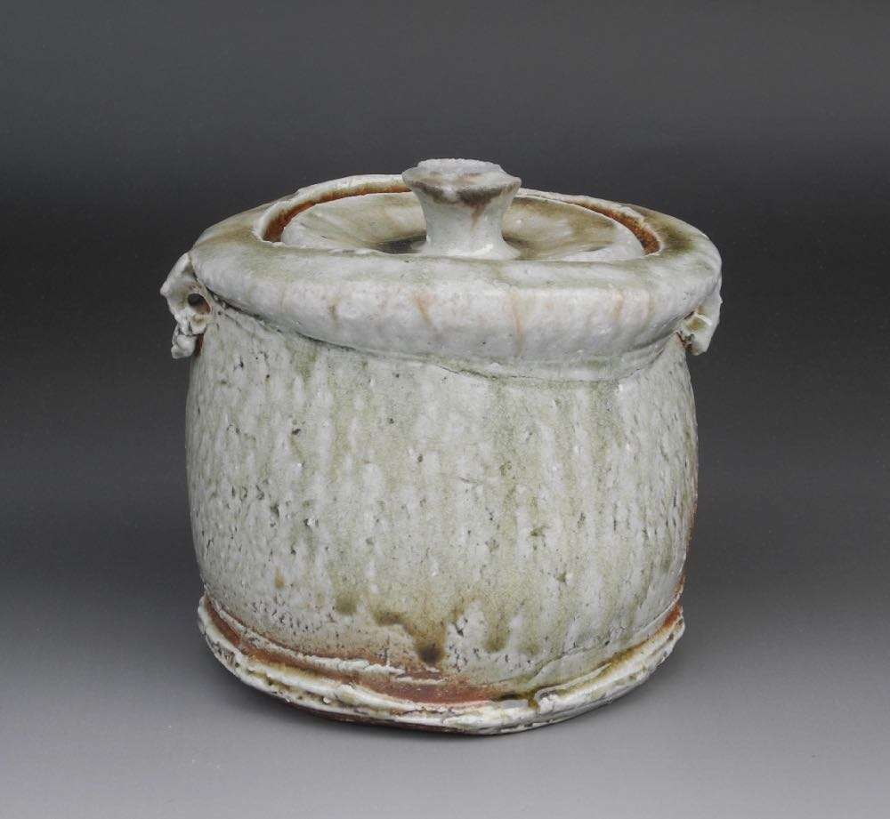 Natural ash mizusashi (water jar) $850. Wooden box included. Height: 16cm