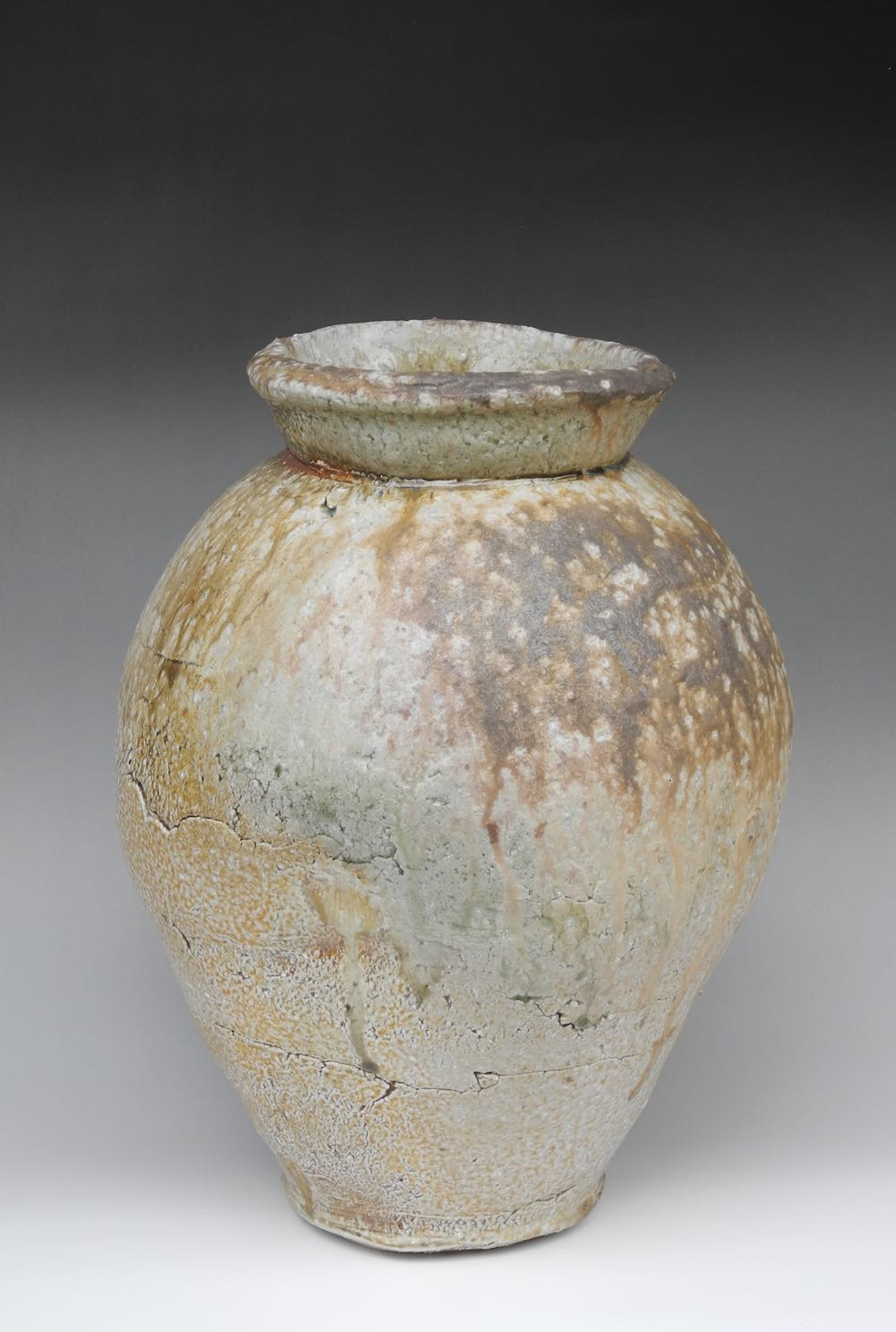 Natural ash tsubo (large jar) $1,700
