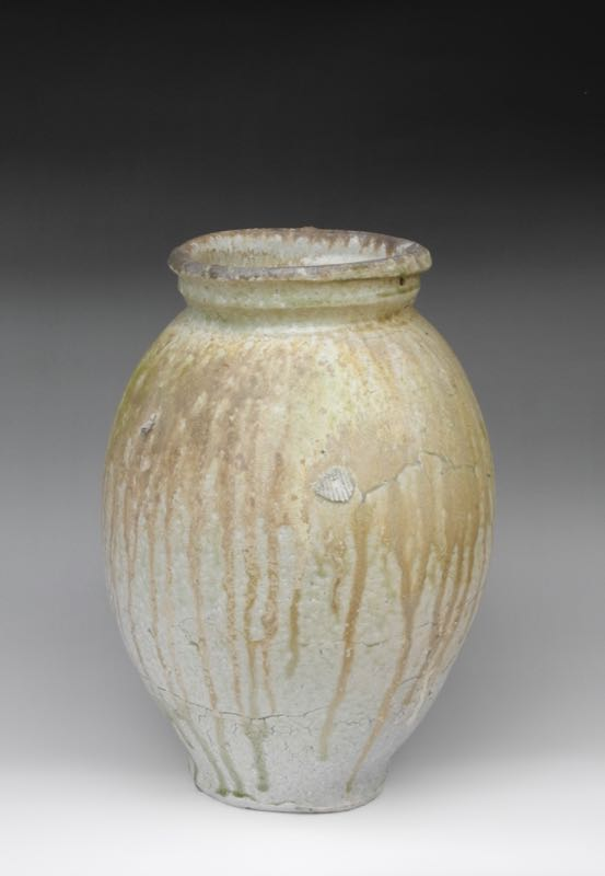 Natural ash tsubo (large jar) . $1,700. Height: 39cm