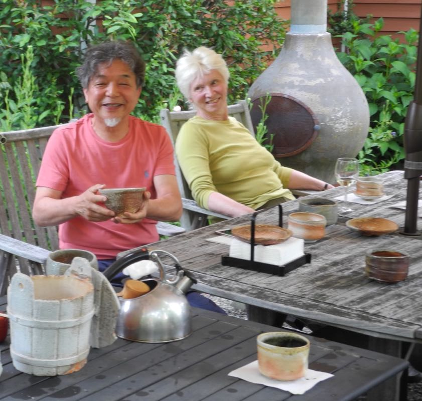 Tea master Saiki san serving an afternoon pick-me-up.
