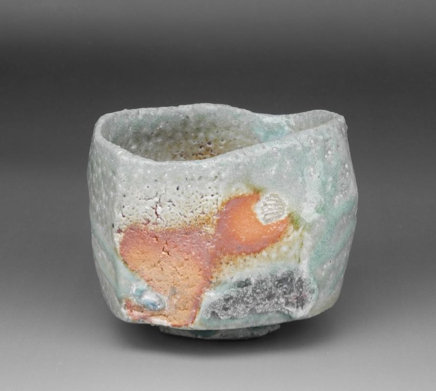 Natural ash chawan (tea bowl) $700. Wooden box included. Height: 8cm