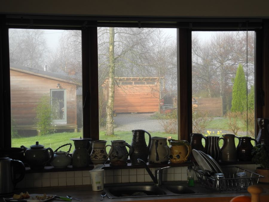 Studio through the kitchen window