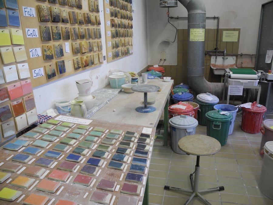 Glaze lab at Landshut
