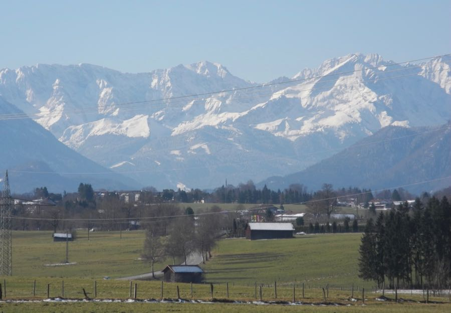 Clear day view of the Alps