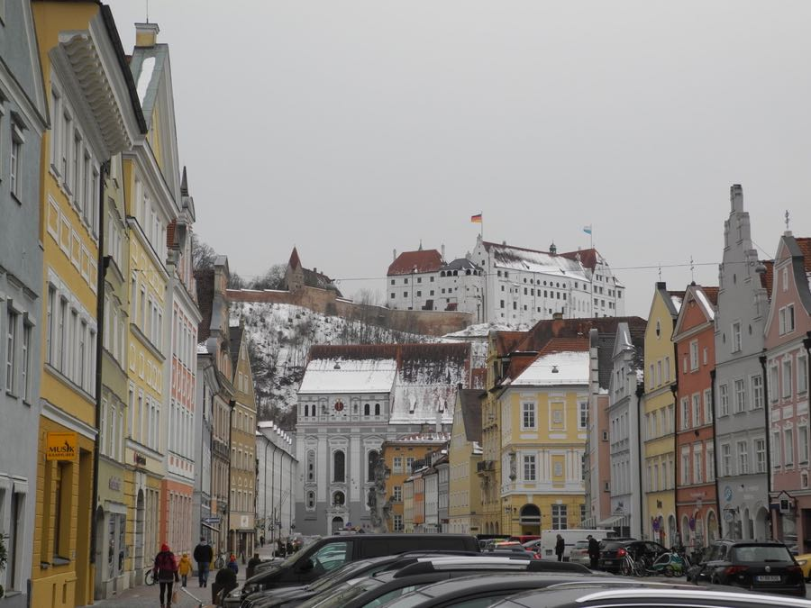 Landshut castle and town