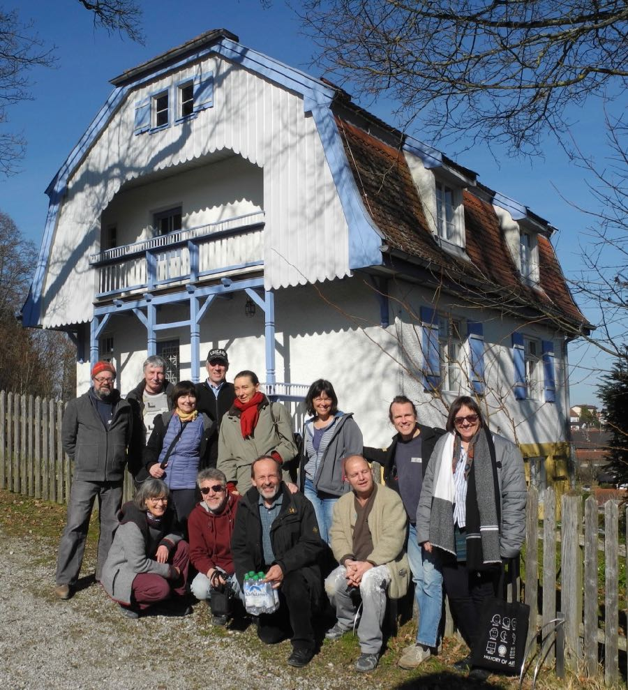 Outside the Munter-haus where Gabriele Münter worked with Wassily Kandinsky in the early 20th century