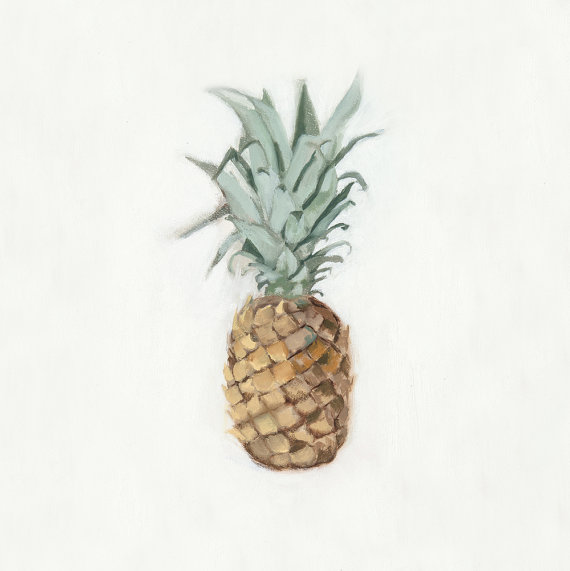 """Pineapple Oil Painting"" by Tierney Moses"