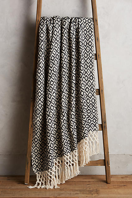 Diamond Weave Throw - Anthropologie $98.00
