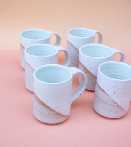 Sanny Ceramics Large Coffee Mug ($42)  Available at cameronmarks.com