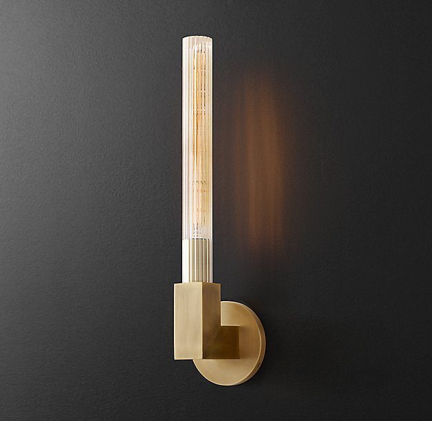 RH Modern - Cannele Single Sconce $349