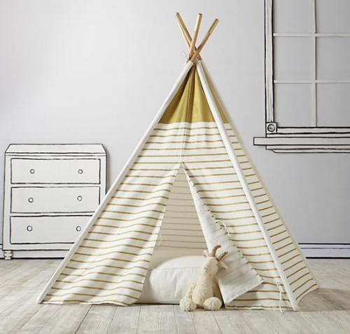 Every little girl's (or boy's) dream come true!    A TeePee to Call Your Own  - LandofNod.com $119