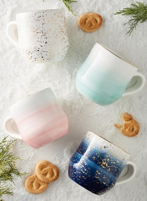 Bring on the hot cocoa...or hot toddies in these beautiful mugs!   Mimira Mugs   - $14
