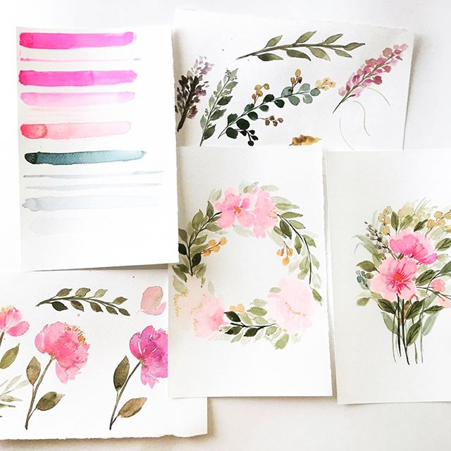 All of Melissa's floral watercolors are absolutely gorgeous and she's teaching 2 mini floral basic watercolor workshops on March 10! Head over to patternsandpetals.com/workshops to sign up! CC: @patternsandpetals 🌷🌹🌻💐 #orangecountyworkshop #watercolorworkshops