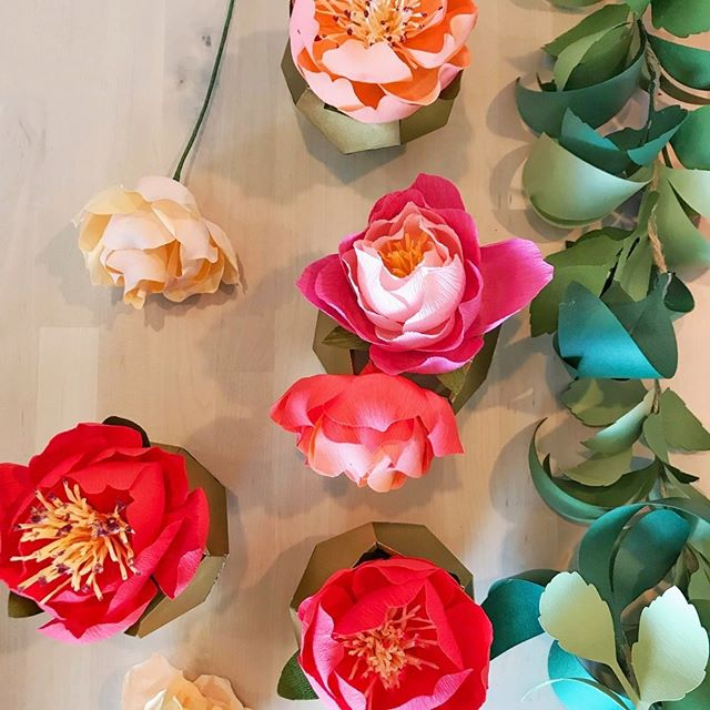 Come learn how to make these gorgeous crepe paper flowers with @BlossomPapers! There are a few spots left for our workshop this Saturday from 5-7pm. Read all the info and how to sign up at: http://ohfshop.com/workshops.